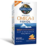 Garden of Life EPA/DHA Omega 3 Fish Oil - Minami Natural Brain Function, Heart and Mood Supplement, 60 Softgels