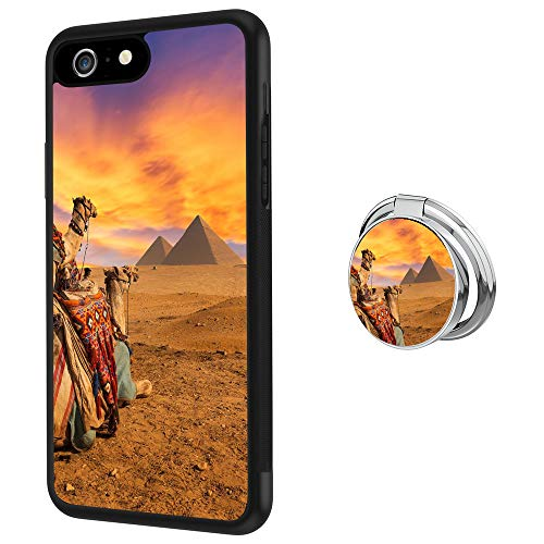 Pyramid Buckle - Hynina Phone Case and Phone Ring Buckle Compatible for iPhone 6s Plus 6 Plus - Camel and Pyramid