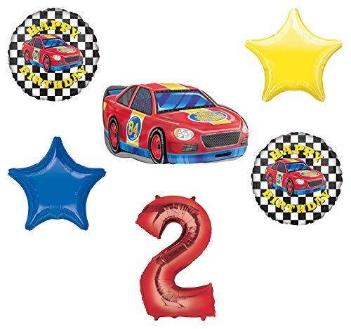 Race Car Theme 2nd Birthday Party Supplies Stock Car Balloon Bouquet Decorations