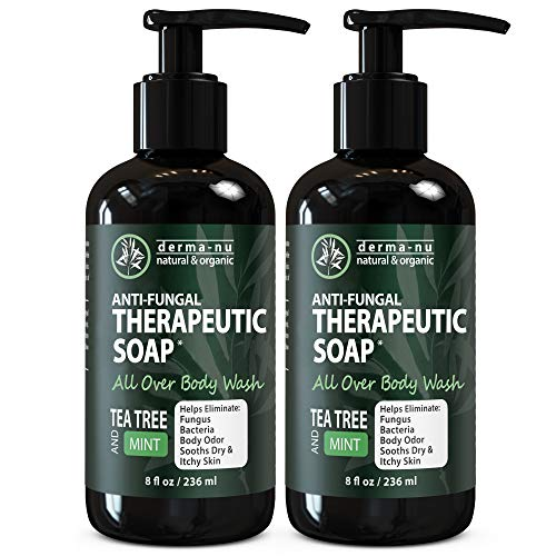 Antifungal Soap and Antibacterial Body Wash – Body Acne Wash, Tea Tree Soap with Tea Tree Oil for Jock Itch, Athletes…
