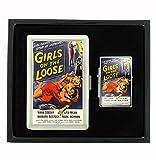 Girls on the Loose Cigarette Case and Flip Top Oil Lighter Set