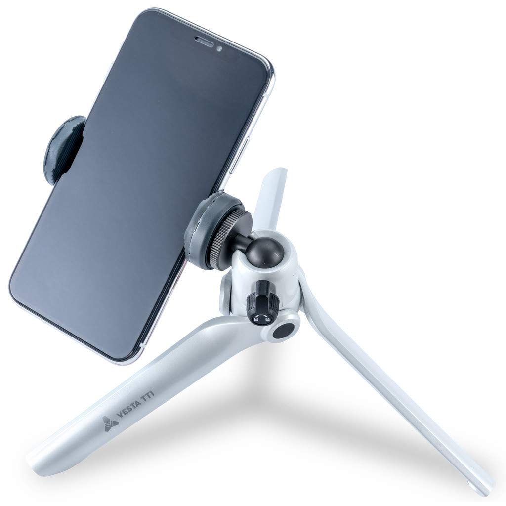 Mini Tripod for Camera and Mobile - Holds up to 2kg - White by Vanguard
