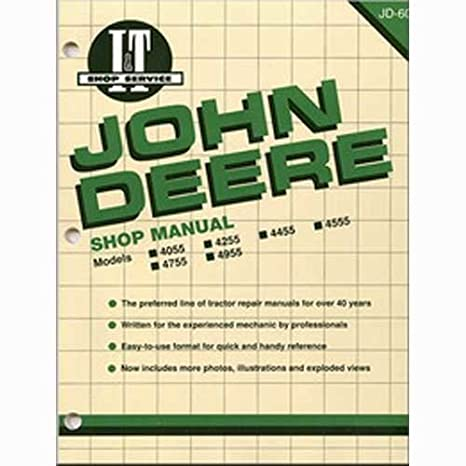 amazon com: all states ag parts i&t shop manual john deere 4755 4755 4255  4255 4055 4055 4955 4955 4455 4455 4555 4555: garden & outdoor
