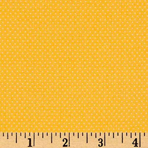 (Santee Print Works Pin Dots Buttercup Fabric by The)