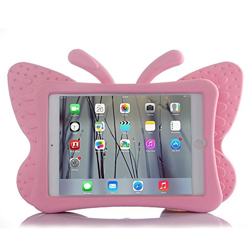 HCHA iPad 2 Case Kids iPad 3 Case iPad 4 Kid Proof Case Shockproof Light Weight EVA Foam Protective Cover For Kids carrying Handle Friendly Case for Apple iPad 2 / 3 / 4 9.7 Inch (Butterfly Pink)