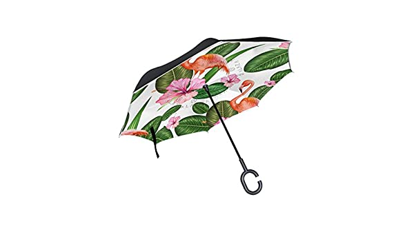 AHOMY Inverted Reverse Umbrella Leaves Windproof for Car Rain Outdoor