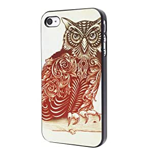 Owl Hard Back Case Cover Shell for iPhone 4 4S