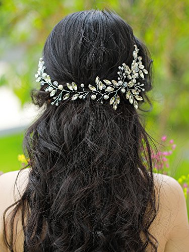 FXmimior Wedding Hair Accessories Bridal Headband Wedding Headpiece Bridal Flower Crownwoodland Headband Bridal Headpiece