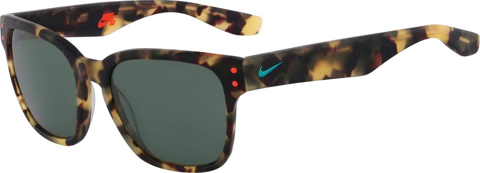 Nike EV0877-203 Volano Sunglasses (One Size), Matte Tokyo Tortoise/Hyper Jade, Teal Lens