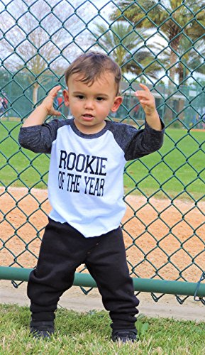 Rookie of the Year 1st Birthday Boys Baseball Shirt by Purple Elephant STL