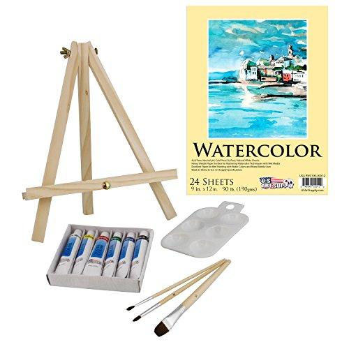 US Art Supply 13 Piece Watercolor