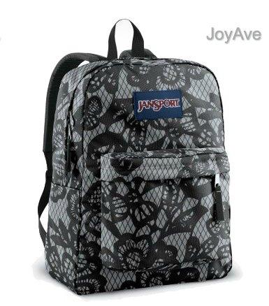 JANSPORT SUPERBREAK BACKPACK SCHOOL BAG – New Storm Grey/ Black Lacis – 9CW, Bags Central
