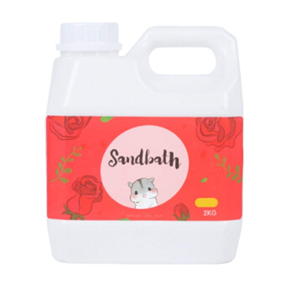 MINGSHENGWANGLUO YNuo Bath Sand Pet Cleaning Supplies. Large Canned Bath Sand. Bathing in The Sand. Let The pet say Goodbye to The Stench. 2kg Drums. Rose/Lemon/Apple/Lavender, Four fragrances. by MINGSHENGWANGLUO