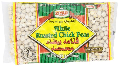 Ziyad Beans Chick Peas White Roasted Dry (Igthama), 12-Ounce (Pack of 6) (Chick Peas Ziyad)