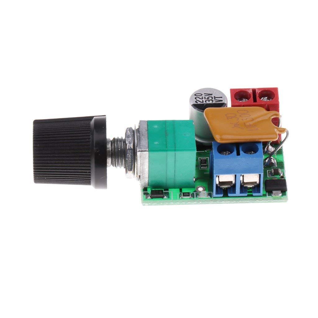 nouler Juler 5Pcs Mini Small Pwm Dc 3V-35V 5A Motor Pwm Speed   Controller Speed   Control by nouler