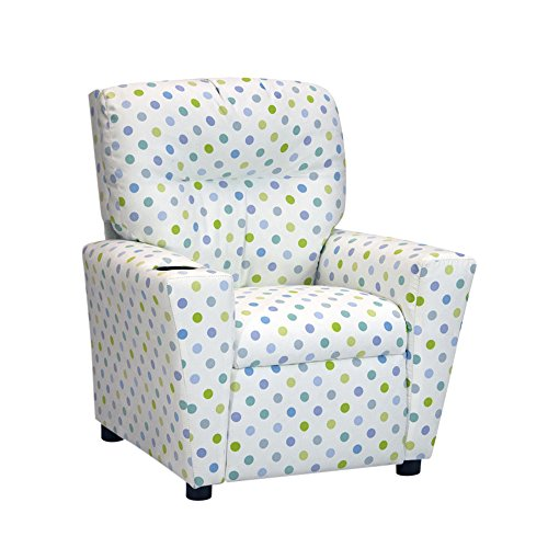 Kidzworld Home Indoor Children Bubble Gum Capri Kid's Recliner by Kidz World