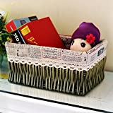 storage basket/ rattan storage box/Desktop snack debris basket in the kitchen-G 27x17cm(11x7inch)