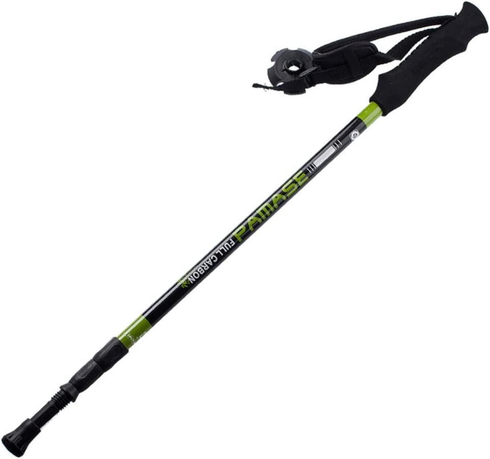 Ginamart Trail Trekking Pole 65-135cm Adjustable Carbon Fiber 148g, Pro Shock Travel Hiking Backpacking Walking Mountaineering Pole Stick, Alpenstock