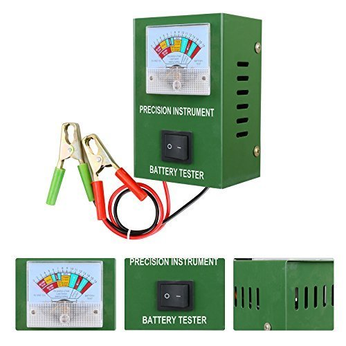 Mrcartool BT-50B Battery Load Tester 6V/12V/16V Car Engine Volume 2-250Amp Quickly Tests Within 5s Alligator Clip