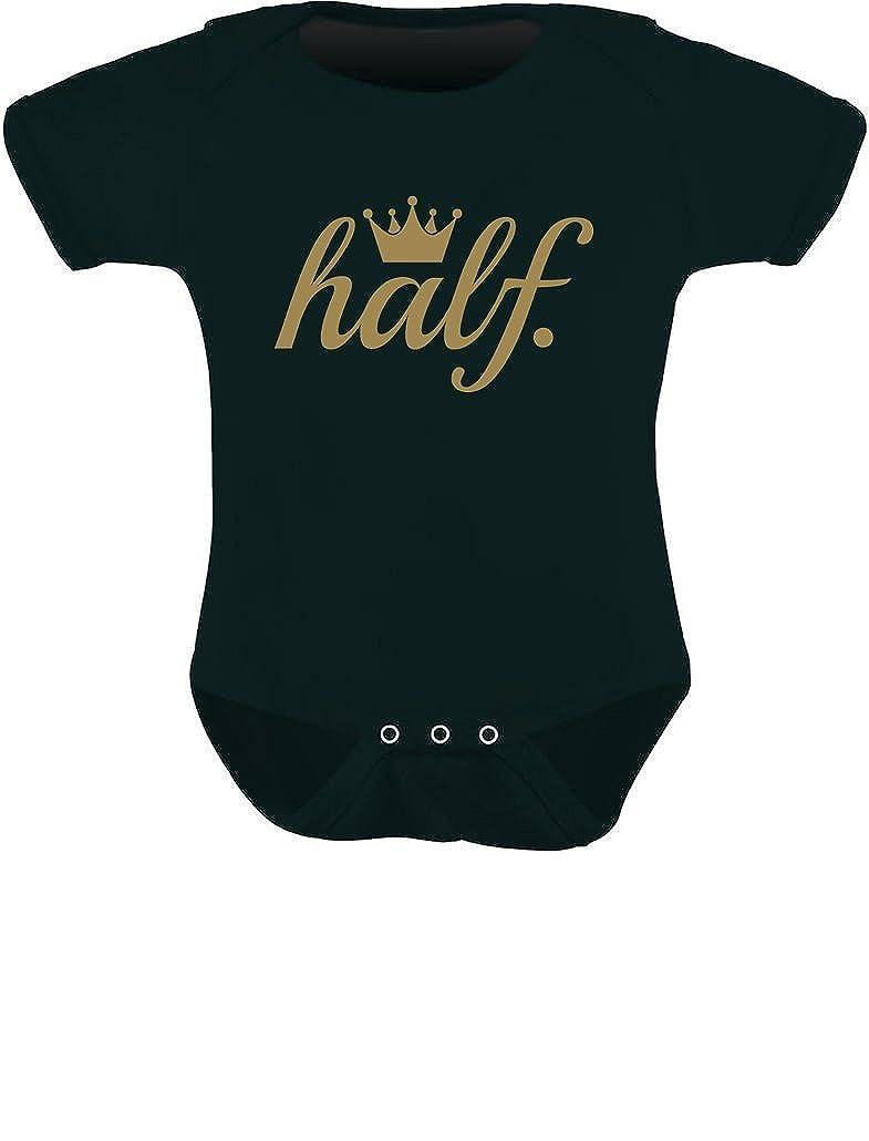 Tstars Half Birthday Outfit for Baby 1//2 Birthday Gift Golden Crown Baby Bodysuit