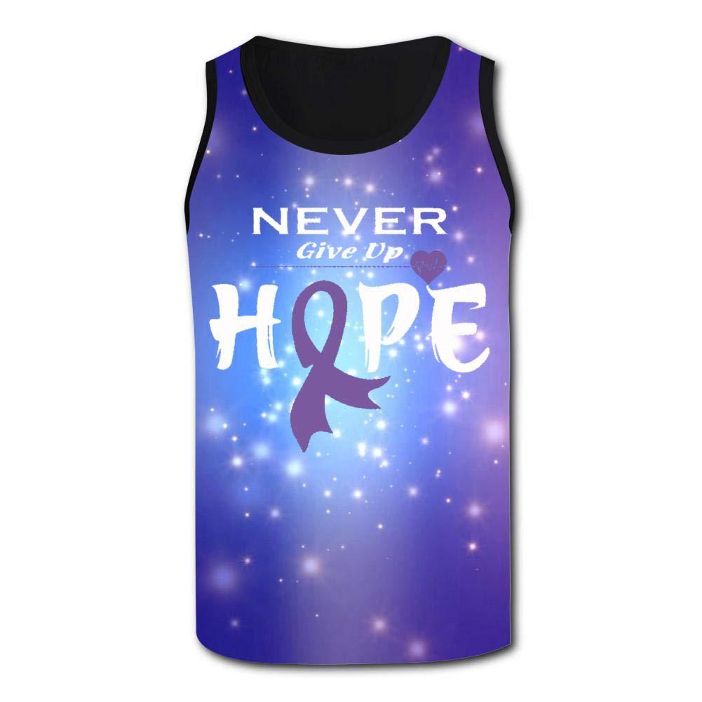 Mens Outdoor Sport Pancreatic Cancer Awareness Tank Top Vest T-Shirt Fast Drying Tee