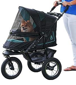 Pet Gear No-Zip NV Pet Stroller, Zipperless Entry, Sky Line