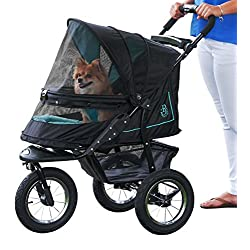Pet Gear No-Zip NV Pet Stroller Zipperless Entry Sky Line