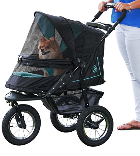 OxGord Deluxe 3 Wheels Foldable Pet Stroller Black