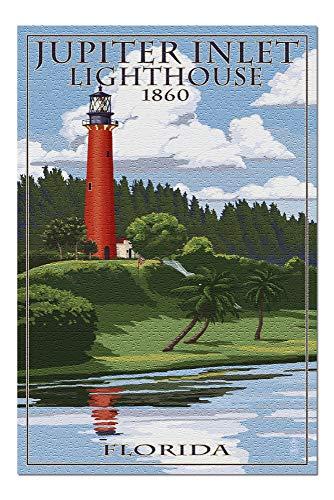 Jupiter Inlet Lighthouse - Jupiter, Florida - Jupiter Inlet Lighthouse (20x30 Premium 1000 Piece Jigsaw Puzzle, Made in USA!)