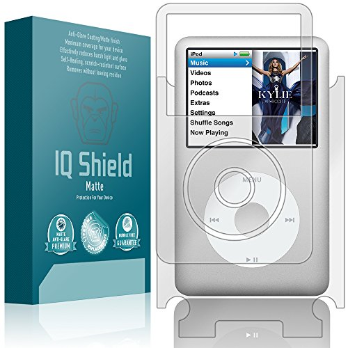 Screen Protector Ipod Classic - IQ Shield Matte Full Coverage Anti-Glare Full Body Skin + Screen Protector for iPod Classic (160GB) Anti-Bubble Film
