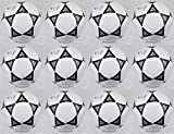 Lot of 12 Campeon Soccer Ball for Out Door Game & Practice White-black Official Weight & Size-5 with Stander-32 Panels