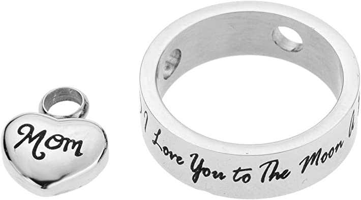 collier pendentif pour Femmes Hommes I Love You to the Moon Et Arrière Famille cœur forme