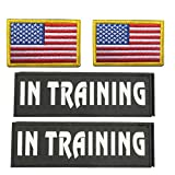 dog pack vest - GrayCell Military Morale Service Dog Patches for Pet Tactical K9 Service Harness Vest Pack of 4 (3)