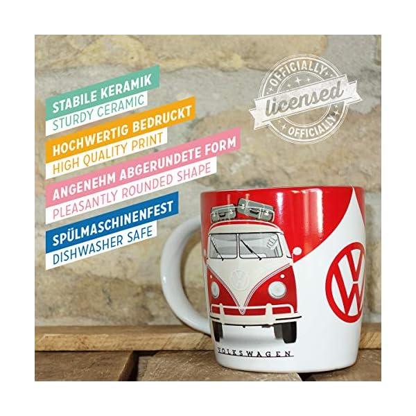 51zcnsgcQZL Nostalgic-Art - Volkswagen Retro Kaffee-Becher - VW Bulli T1 - Good In Shape, Große Lizenz-Tasse als Vintage VW Bus…