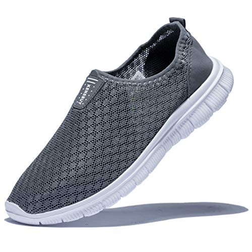 KENSBUY Mens Breathable and Durable Sports Running Shoes Lightweight Mesh Walking Sneakers EU41 Grey by KENSBUY (Image #9)