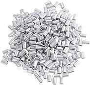 CUTICATE Mini Aluminum Oval Crimp Kit 100pcs 0.8mm, 1mm, 1.2mm, 1.5mm