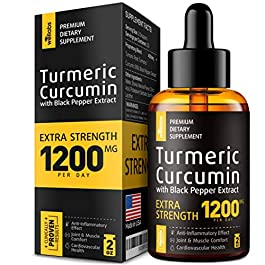 Premium Turmeric Curcumin with BioPerine – 1200mg PER Day – Highest Potency & BIOAvailability – Turmeric Curcumin Supplement for Pain Relief & Joint Support – Anti Inflammatory Effect – No-GMO