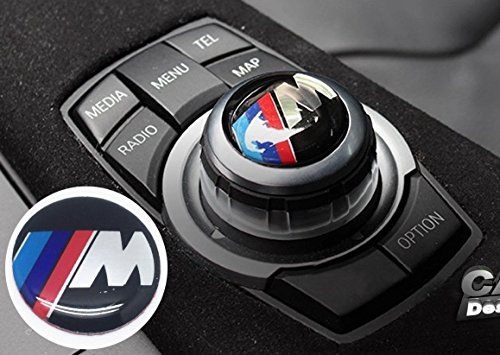 ///M Idriver I Drive Audio Controller Cover CAP BMW Sticker Emblem Badge Diameter 29mm for BMW 5er F10 F11 1er F20 F21 3er F30 4er F32 F34 F36