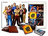 DA CHOCOLATE Souvenir Candy THE BIG BANG THEORY Chocolate Gift Set Famous TV series design 5x5in 1 box (White)