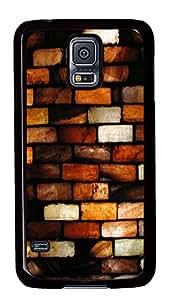 Samsung Galaxy S5 cassette cases Painted Bricks Art PC Black Custom Samsung Galaxy S5 Case Cover