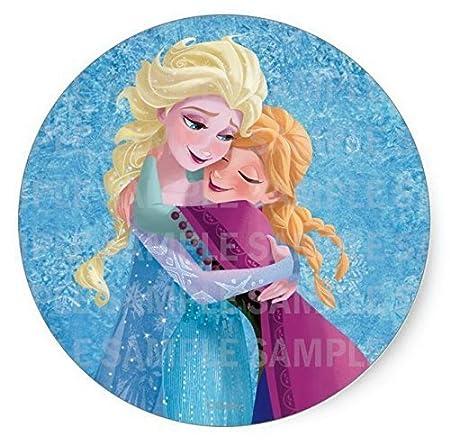 Frozen Anna Elsa Cumpleaños Comestible imagen Hoja de ...