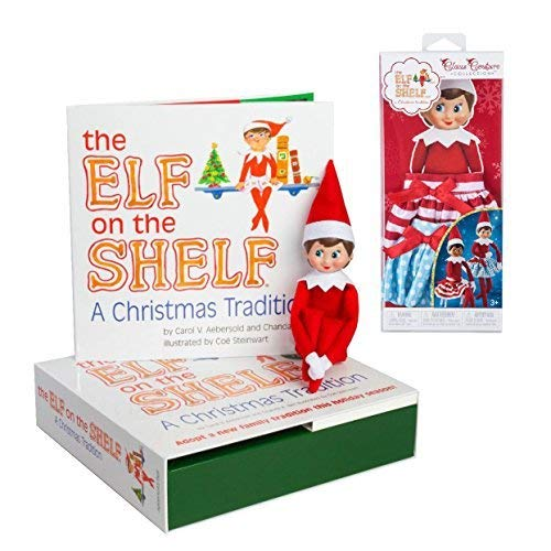 The Elf on the Shelf: A Christmas Tradition Blue Eyed Elf Girl and Claus Couture Collection Twirling in the Snow Skirts -