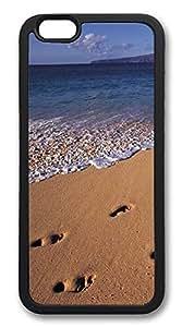 ACESR Beach Footprints Cute iPhone 6 Case TPU Back Cover Case for Apple iPhone 6 4.7inch Black hjbrhga1544