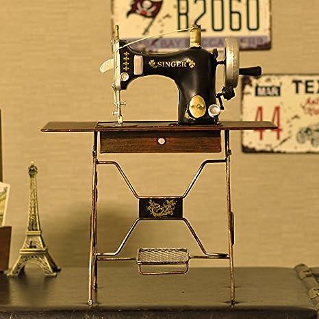 GFEI La Pantalla de la Ventana Props Antiguas maquinas de Coser casa Muebles Adornos Decoracion (33 * 15 * 42.5cm): Amazon.es: Hogar