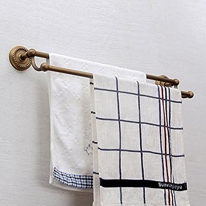 Estilo Vintage soporte de pared para baño bañera ducha accesorios (61 cm) latón doble