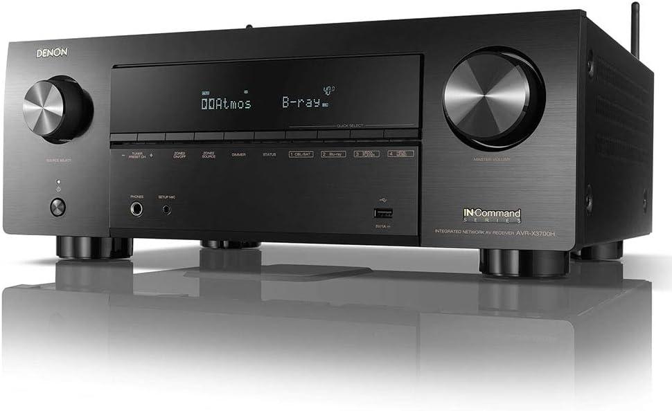 Denon AVR-X3700H 8K Ultra HD 9.2 Channel (105 Watt X 9) AV Receiver 2020 Model