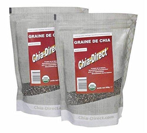 1 kg Semilla de Chia Bio - Lote de 2 x 500 g: Amazon.es ...