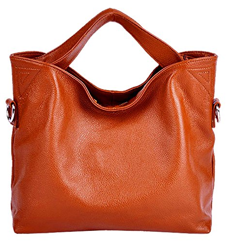 SAIERLONG Ladies Designer Womens Off-White Fashion Soft Leather Handbags Shoulder Bags Orange