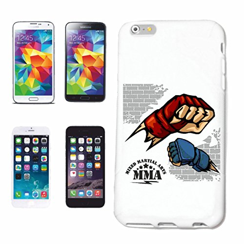 """cas de téléphone iPhone 6S """"MMA ARTS IMPORTANTS MIXTE MMA ARTS IMPORTANTS MIXTES Fightclub STREET FIGHT BOXE KARATE KICK BOXING JUDO"""" Hard Case Cover Téléphone Covers Smart Cover pour Apple iPhone en"""