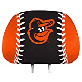 Promark Baltimore Orioles Printed Full Color 2-Pack Head Rest Covers Elastic Auto Baseball